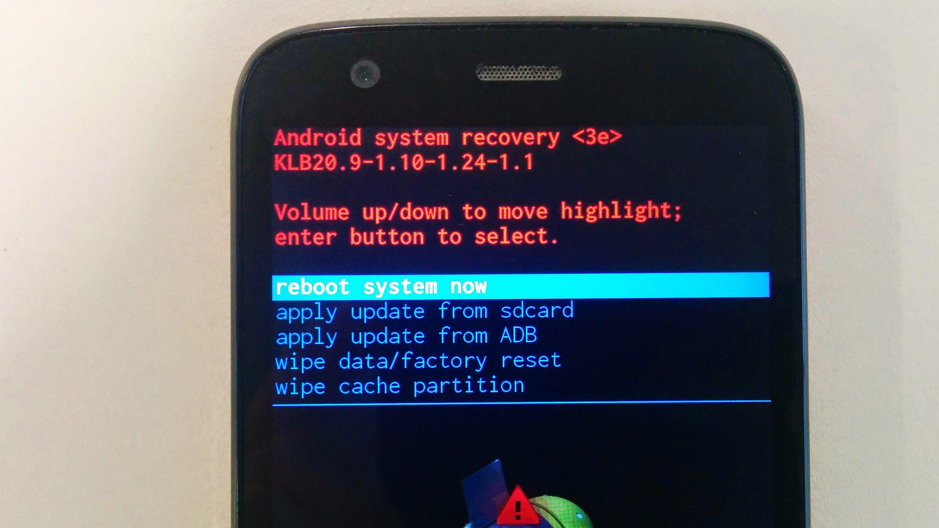 Risultati immagini per android recovery mode