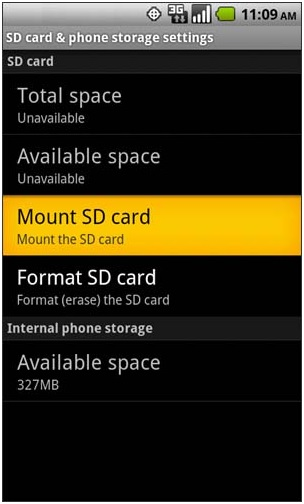 mount sd card
