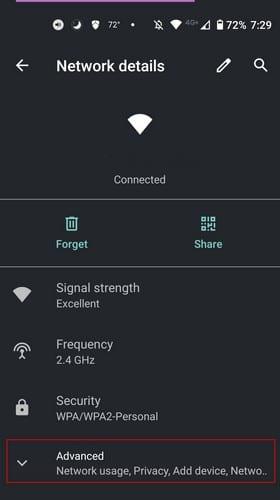Impostazioni Android WiFi